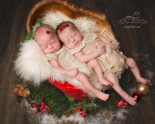 julekort, babyfotografering Oppegård