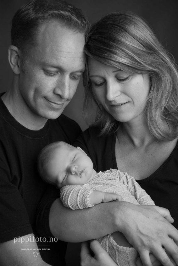 svart-hvitt familiebilder